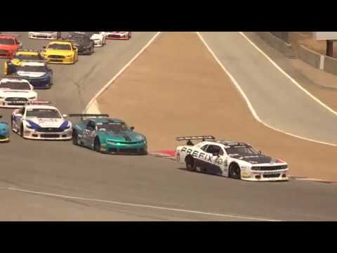 Daring Inside Pass in the Corkscrew from Thomas Merrill at Laguna (race highlight)
