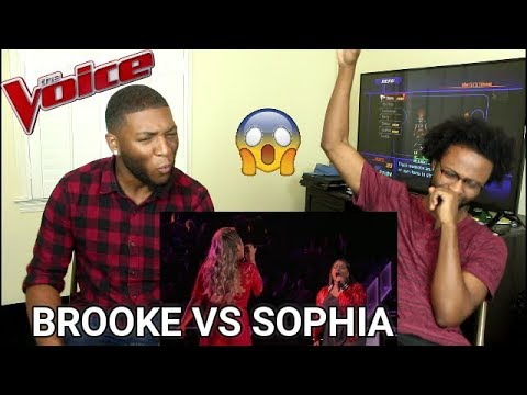 The Voice 2017 Battle - Brooke Simpson vs. Sophia Bollman: 'You're a Big Girl Now' (REACTION)