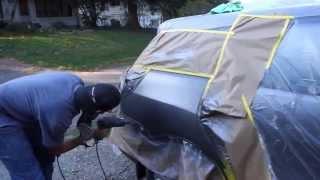 Video Mobile Auto Bodywork & Paint Job (fixing a dent with a uni-spotter) MP3, 3GP, MP4, WEBM, AVI, FLV Januari 2019