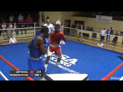 2015 USA boxing Olympic trials 141 elite Gary Russell vs Richards