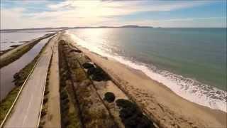 Hyeres France  City pictures : DJI phantom 2 above beaches : L'Almanarre (Hyères, France)