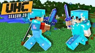 DIAMOND vs DIAMOND PvP FIGHT! (Minecraft Cube UHC Season 20 Episode 6)