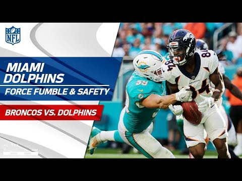 Video: Isaiah McKenzie Fumbles on the Punt Return, Miami Snags Safety! | Broncos vs. Dolphins | NFL Wk 13