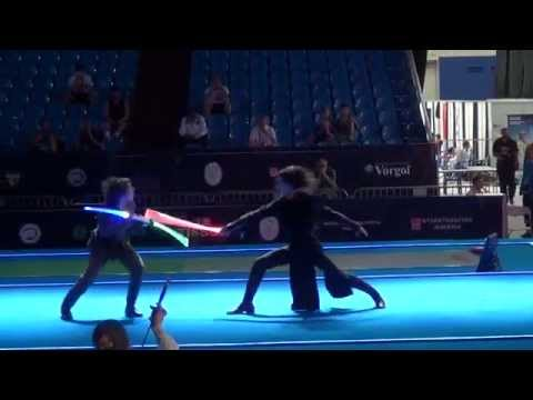 Lightsaber Duel at the Fencing Senior World