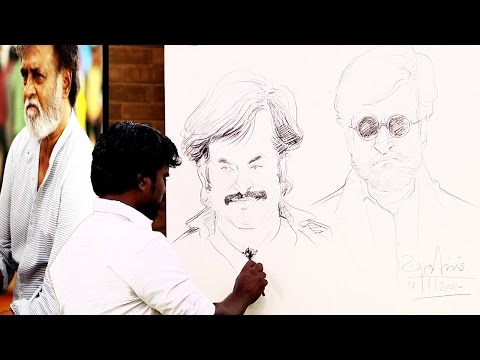 Kabali-movie-art-director-Ramalingam-drawing-Super-Star-Rajinikanth-Puthuyugam-TV