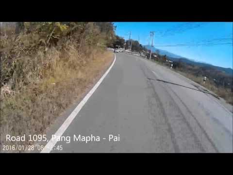Driving road 1095, Pang Mapha -  Pai, Thailand Part II HD (видео)