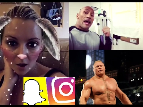 WWE Snapchat/IG Moments Ft. Brock Lesnar, The Rock, Stephanie McMahon n MORE (видео)