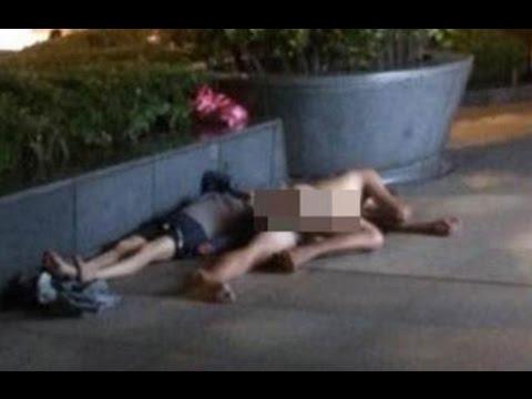 酒醉情侶「以為回到家」竟脫光裸睡台北街頭!