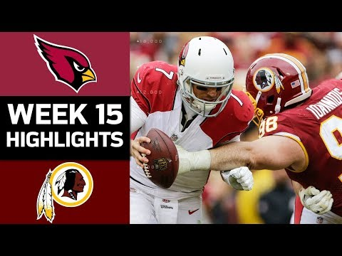 Cardinals vs. Redskins | NFL Week 15 Game Highlights (видео)
