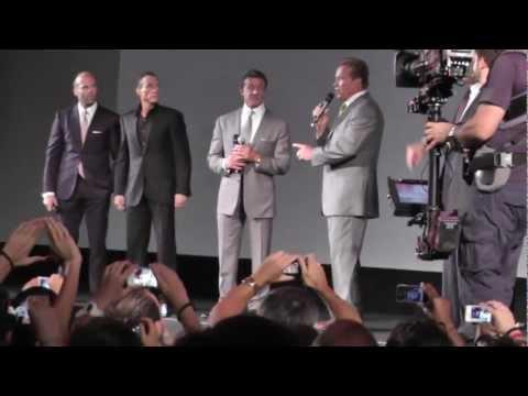 The Expendables 2 - PARIS PREMIERE, Schwarzenegger, Stallone, Vandamme, Lundgren