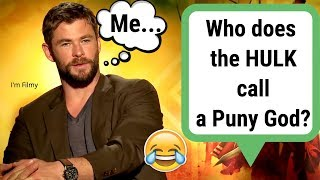 Video Thor: Ragnarok Cast Know Nothing About Marvel Movies - Hilarious Interview - 2017 MP3, 3GP, MP4, WEBM, AVI, FLV September 2018