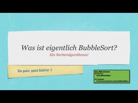 BubbleSort in Java Tutorial