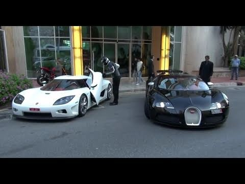 Noble M600 - http://www.facebook.com/GTBOARD Koenigsegg CCX and Bugatti Veyron Sang Noir in Monte Carlo, Monaco.