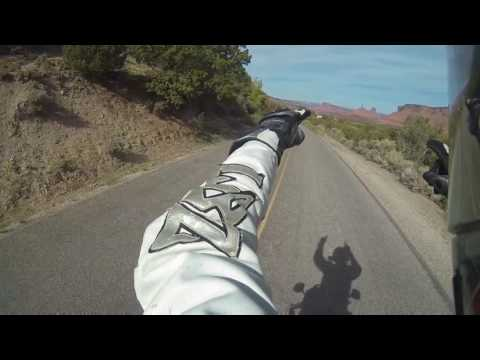 Riding a Cagiva Gran Canyon on Dolores Triangle Safari Route