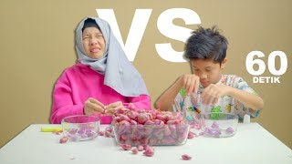 Video 60 Detik Battle | Fatim VS Fateh Kupas Bawang Merah Sampe Nangis MP3, 3GP, MP4, WEBM, AVI, FLV Desember 2018