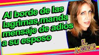 Lili Estefan del Gordo y La Flaca se despide de su esposo en vivo