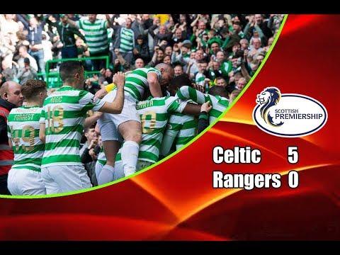 Celtic - Rangers 5-0 29-04-2018 Highlights Scottish Premiership