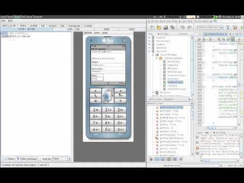 J2ME application