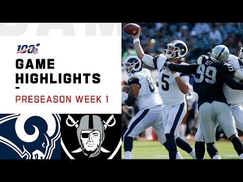 Rams vs. Raiders Preseason Week 1 Highlights | NFL 2019