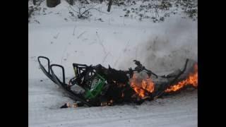 6. Arctic Cat Sno Pro 500 Explodes