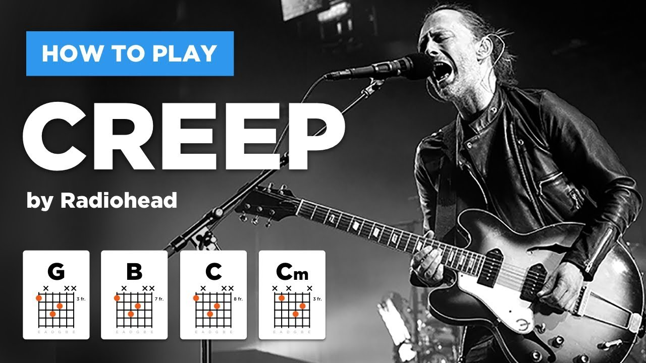 🎸 Creep • Radiohead guitar lesson (easy version without barre chords)
