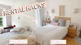 Rental Room Makeover on a Budget | Easy Home Decor Hacks 2019
