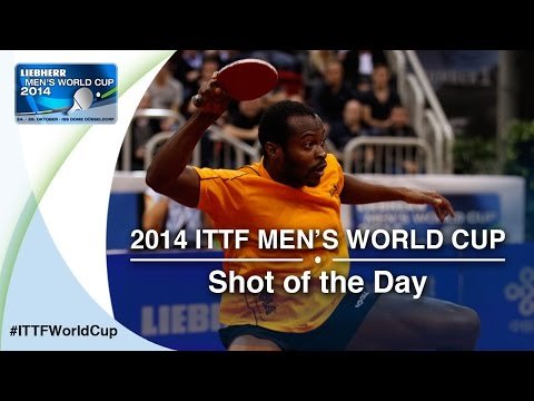 Shot - The underdog Aruna Quadri from Nigeria surprised everyone at the LIEBHERR 2014 Men's World Cup and made it into the quarterfinals. Have a look at this awesome shot against Zhang Jike from ...