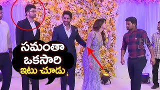 Video Naga Chaitanya Embarrassing Moment @ Samantha Naga Chaitanya Wedding Reception | Filmylooks MP3, 3GP, MP4, WEBM, AVI, FLV November 2017
