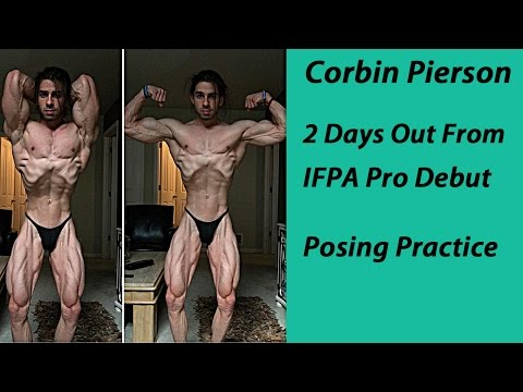 Corbin Pierson- 2 Days Out from IFPA Pro Debut, Natural Bodybuilding Posing Practice:  -2 weeks after winning my IFPA Pro Card at the NANBF Natural Iowa, and 2 days out from pro debut at the IFPA Pro North Americans. Lighting is pretty bright so it washes out the definition a tad, but oh well. I tried to provide a full view this time so it is what it is.24 years old, 5'10