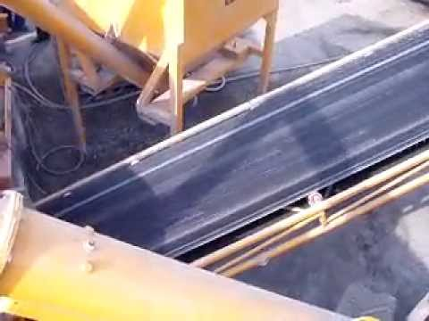Fibo Intercon - мобильный бетонный завод. Загрузка инертных погрузчиком без пандуса.