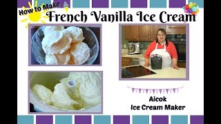 "How to make make Homemade French Vanilla Ice Cream! This starts with a custard that is cooked and then cooled. It is then put into an Aicok ice cream maker that has had the bowl frozen overnight. It is churned into a creamy ice cream that is rich and flavorful! This ice cream is fantastic! Aicok Ice Cream Maker:B01M2A9GM9 Aicok Ice Cream Maker Unboxing:https://youtu.be/BW8w7_TvMq8Amy Learns to Cook is all about learning to make simple, tasty food from fresh ingredients.  One year ago, I made a commitment to stop eating processed convenience foods.  I decided to learn to cook ""real"" food. Join me!  Let's learn to cook together! Enjoy! Please share! Please SUBSCRIBE to my channel, LIKE, and leave a COMMENT.Please visit my website: www.amylearnstocook.comAny links in this description, including Amazon, are affiliate links.I received this product free of charge in exchange for my honest review."