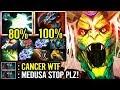 Dota 2 is Cancer!! - Medusa with 75% Lifesteal | Raidboss 1 vs 4 Epic Dota 2 Gameplay