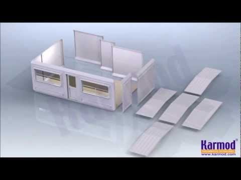 Flat Pack Cabins, Flat Pack Office Container, Flat Pack House, Modular Cabin, KARMOD