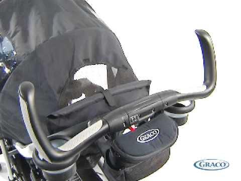 Прогулочная коляска для двойни Graco QUATTRO TOUR DUO, Sport Luxe (черный)