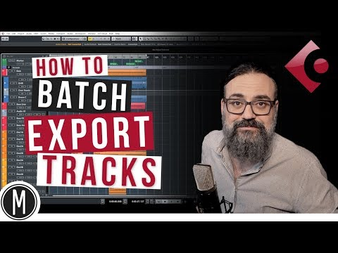 How to BATCH EXPORT TRACKS for MIXING in Cubase 9.5 - mixdown.online