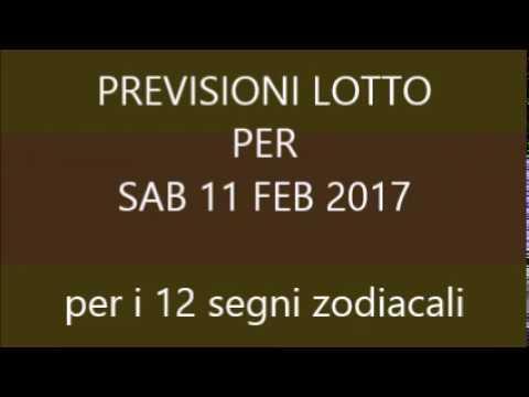 Previsioni per il Lotto ★ Estrazione Sabato 11 Febbraio 2017