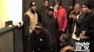Naughty By Nature, Notorious B.I.G. & Onyx in the studio....
