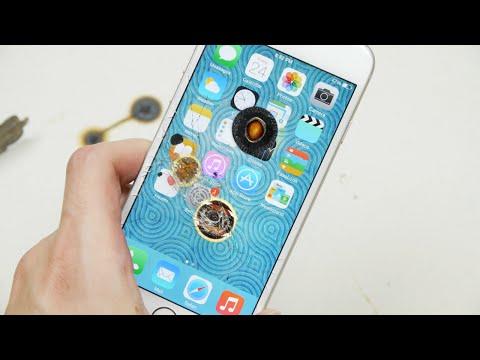 男子把燒紅的熱鐵球強壓在iphone螢幕上,結果....