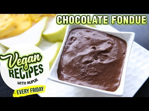 How To Make Chocolate Fondue – Eggless Chocolate Fondue Recipe – Vegan Series By Nupur Sampat