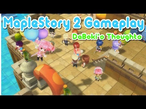 MapleStory 2 Gameplay Trailer – DaBoki's Thoughts