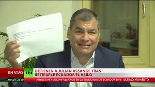 """Rafael Correa: """"Lenín Moreno vendió a Assange a Estados Unidos"""""""