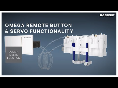Geberit Omega Square Remote button with Hydraulic Servo Lifter functionality