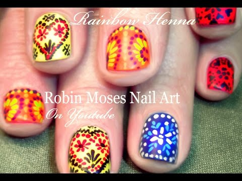 Nail - Moroccan tile nail art in the 'cute' playlist SUPPORT ART and SHOUT OUT who inspires you when you copy! This keeps our community STRONG, full of fun & sharin...