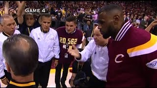 For more videos, go to http://nba-referees-wired.com. LeBron James listens to Joey Crawford in the pre-game talk with the players in the NBA Finals. Kobe Bryant makes a three pointer in an All Star Game, but only get credited with a two, because NBA referee Steve Javie missed it. And have fun, as Carlos Boozer gets a technical - BAM!
