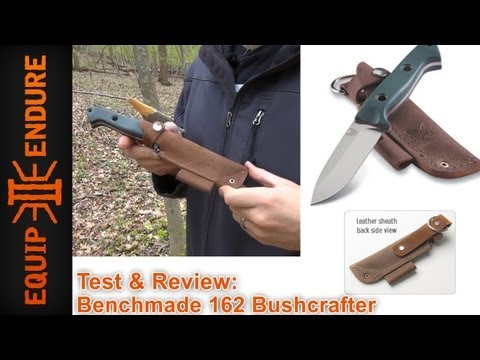 benchmade - Adam gives us a review and test of the Benchmade 162 Bushcraft (Sibert) MSRP $200. A little on S30v - very hard material, holds it sharpness, fine grain edge...