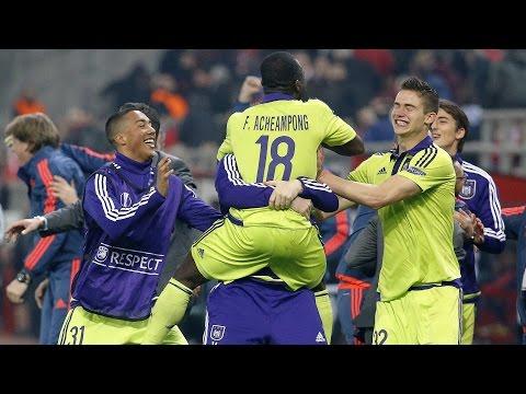 Highlights Olympiacos FC 1-2 RSC Anderlecht (25/02/2016)