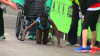 Austin Marathon Crawling to Finish