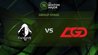 Faceless vs LGD, Game 2, Group C - The Boston Major