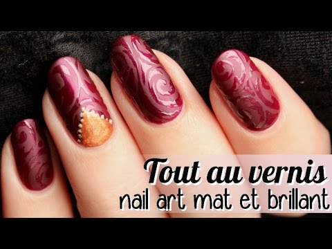 tutorial nail art - elegant nail art (matt&glossy)