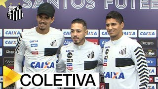 Confira como foi a coletiva de imprensa dos jogadores Lucas Veríssimo, Jean Mota e Daniel Guedes.Inscreva-se na Santos TV e fique por dentro de todas as novidades do Santos e de seus ídolos! http://bit.ly/146NHFUConheça o site oficial do Santos FC: www.santosfc.com.brCurta nossa página no facebook: http://on.fb.me/hmRWEqSiga-nos no Instagram: http://bit.ly/1Gm9RCSSiga-nos no twitter: http://bit.ly/YC1k82Siga-nos no Google+: http://bit.ly/WxnwF8Veja nossas fotos no flickr: http://bit.ly/cnD21USobre a Santos TV: A Santos TV é o canal oficial do Santos Futebol Clube. Esteja com os seus ídolos em todos os momentos. Aqui você pode assistir aos bastidores das partidas, aos gols, transmissões ao vivo, dribles, aprender sobre o funcionamento do clube, assistir a vídeos exclusivos, relembrar momentos históricos da história com Pelé, Pepe, e grandes nomes que só o Santos poderia ter.Inscreva-se agora e não perca mais nenhum vídeo! www.youtube.com/santostvoficial-------------------------------------------------------------** Subscribe now and stay connected to Santos FC and your idols everyday!http://bit.ly/146NHFUVisit Santos FC official website: www.santosfc.com.brLike us on facebook: http://on.fb.me/hmRWEqFollow us on Instagram: http://bit.ly/1Gm9RCSFollow us on twitter: http://bit.ly/YC1k82Follow us on Google+: http://bit.ly/WxnwF8See our photos on flickr: http://bit.ly/cnD21UAbout Santos TV: Santos TV is the official Santos FC channel. Here you can be with your idols all the time. Watch behind the scenes, goals, live broadcasts, hability skills, learn how the club works, exclusive videos, remember historical moments with Pelé, Pepe and all of the awesome players that just Santos FC could have. Subscribe now and never miss a video again! www.youtube.com/santostvoficial